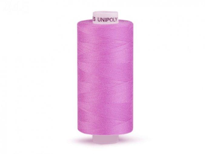 Šicí nit Unipoly 120 návin 500 m / 445 - středně fialová