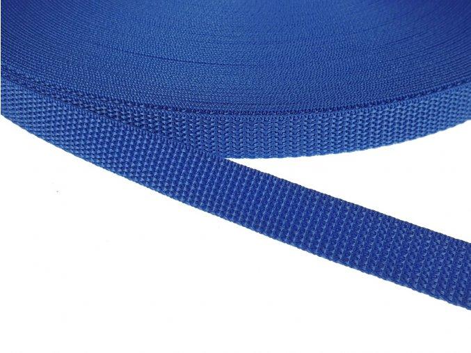 Popruh polypropylénový šíře 15 mm - modrý