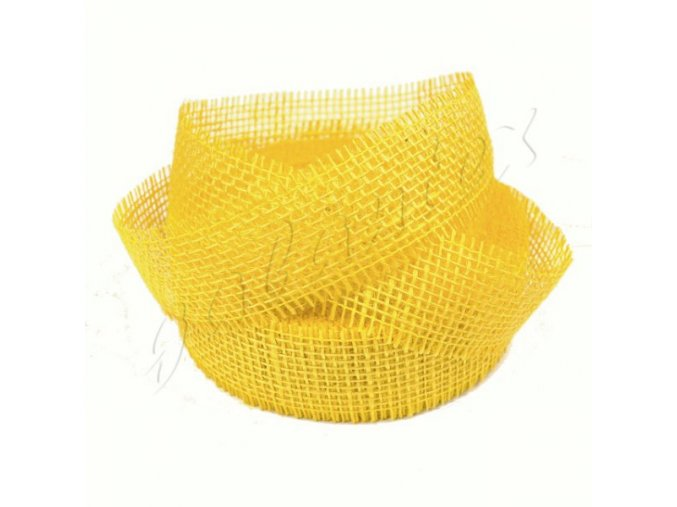 Jutová stuha šíře 40mm - žlutá