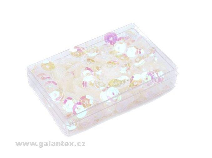 Flitry Ø6mm v krabičce 7g  - perleťové