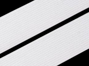 Pruženka plochá 25 mm - bílá (zvytek 0,7 m)