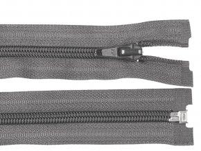 Zip spirálový dělitelný 5 mm / 55 cm - šedý tmavý