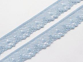 Bavlněná krajka paličkovaná 40 mm - sv. modrá