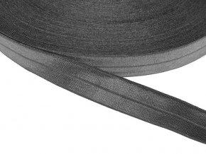 Pruženka lemovací šíře 20 mm - šedá tmavá
