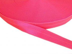 Pruženka lemovací šíře 20 mm - růžová neonová