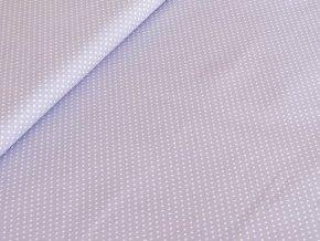Bavlněné plátno puntík 2 mm - sv. fialová