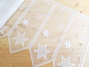 Vitrážová záclona - hvězdy