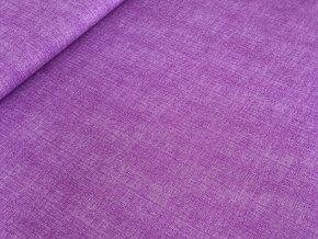 Bavlněné plátno Režný efekt - fialová