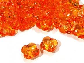 """Knoflík dětský 24"""" Květinka - oranžový"""