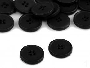 """Knoflík plastový 32"""" - černá"""