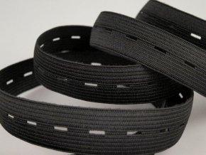 Pruženka dírková šíře 20mm - černá