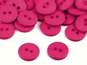 """Knoflík plastový 24"""" - růžová malinová"""