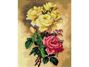 Předloha vyšívací 24 x 30 cm - Růže