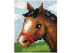 Sada vyšívací 17 x 20,5 cm - Kůň
