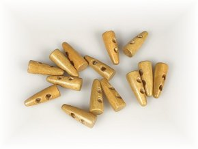 Knoflík dřevěný 30 mm Rohy