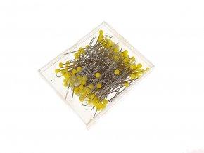 Špendlíky se skleněnou hlavičkou 0,6 x 43 mm