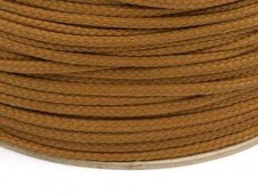 Oděvní šňůra PES 4 mm - starozlatá