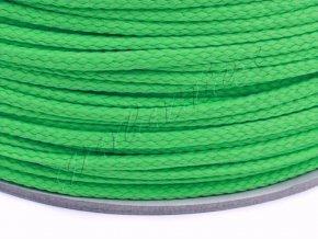 Oděvní šňůra PES 4 mm - zelená jablko