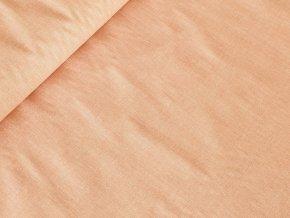 Bavlněné plátno Lněný efekt - krevetová