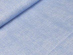 Bavlněné plátno - Lněný efekt modrá provensálská