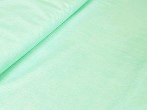 Bavlněné plátno - Lněný efekt mentolová
