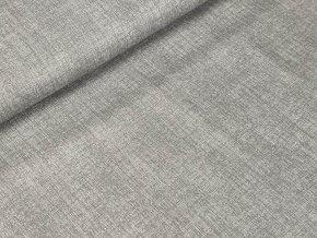 Bavlněné plátno - Lněný efekt šedá