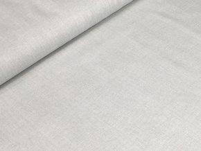 Bavlněné plátno - Lněný efekt sv. šedá