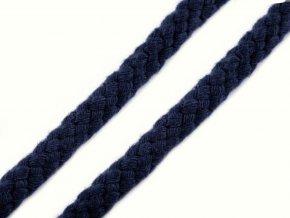 Oděvní šňůra 10-12 mm splétaná - tm. modrá