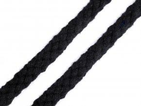 Oděvní šňůra 10-12 mm splétaná - černá