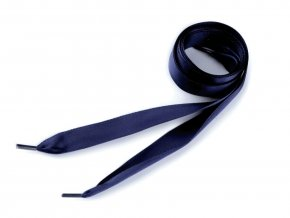 Saténové tkaničky do bot a mikin 110 cm - tm. modrá