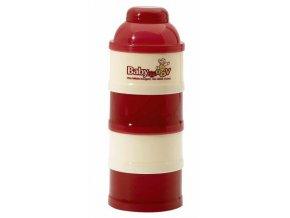 Dávkovač sušeného mléka - červená/smetanová