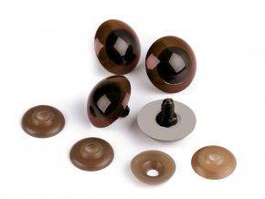 Bezpečnostní oči 26 mm (1 pár) - hnědé