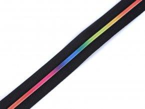 Zip spirálový 3 mm metráž - duhový