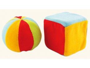 Plyšová kostka a míček malý
