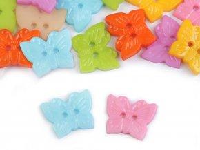 Knoflík dětský Motýl - mix barev (16 kusů)