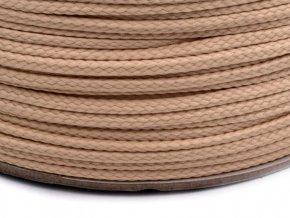 Oděvní šňůra PES 4 mm - tmavě béžová