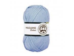 Příze Madame Cotton / 013 - modrá pomněnková