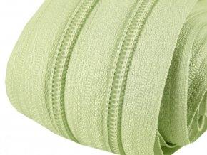 Zip spirálový 5 mm metráž - zelenkavá