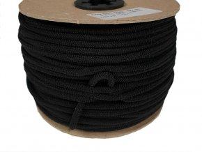 Klobouková guma tkaná 3 mm - černá