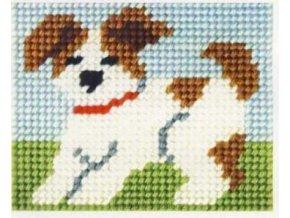 Sada vyšívací 17 x 20,5 cm - Pes