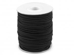 Klobouková guma 3 mm - černá