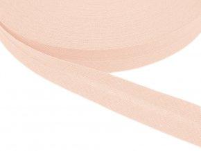 Šikmý proužek bavlněný šíře 20 mm - růžová světlá