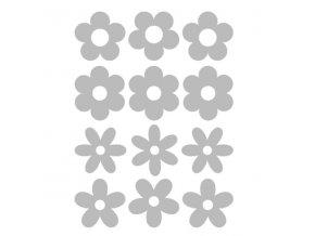 Reflexní nažehlovací potisk - květy (12 kusů)