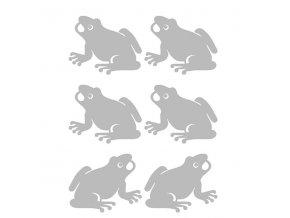 Reflexní nažehlovací potisk - žába (6 kusů)