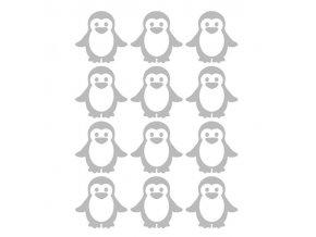 Reflexní nažehlovací potisk - tučňáci (12 kusů)