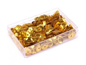 Flitry Ø6mm v krabičce 7g  - zlaté