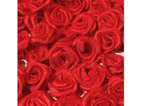 Růžička saténová Ø 10-12mm (10 kusů) - červená