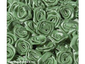 Růžička saténová OE 10-12mm (10 kusů) - šedozelená