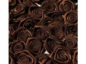 Růžička saténová OE 10-12mm (10 kusů) - hnědá