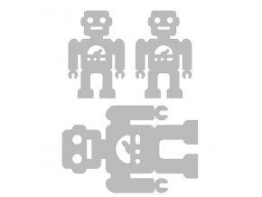 Reflexní nažehlovací potisk - roboti (3 kusy)